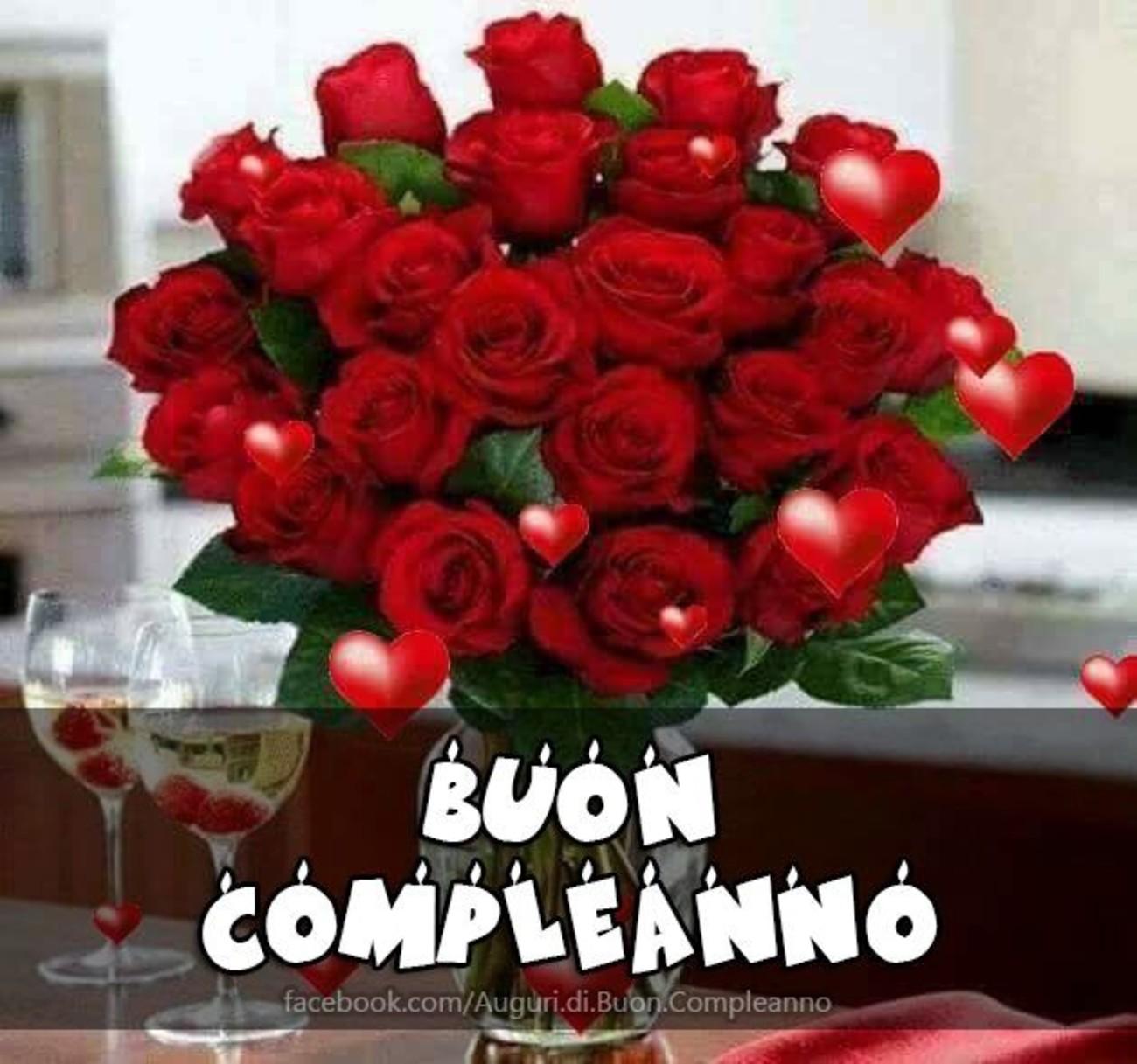 Famoso Buon Compleanno foto con rose rosse 177 - Buongiorno-Immagini.it FW02