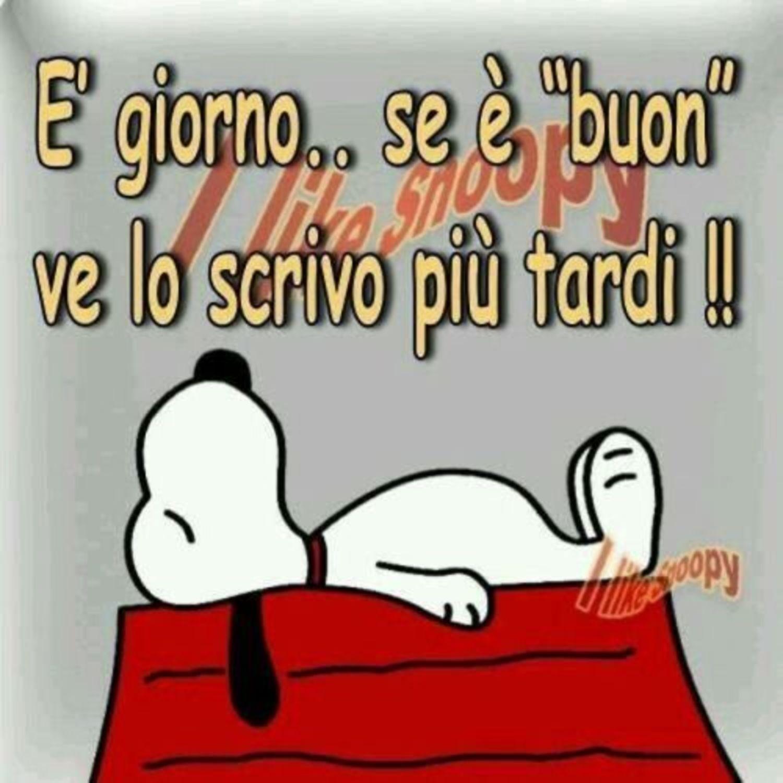Vignette Buongiorno Snoopy 50