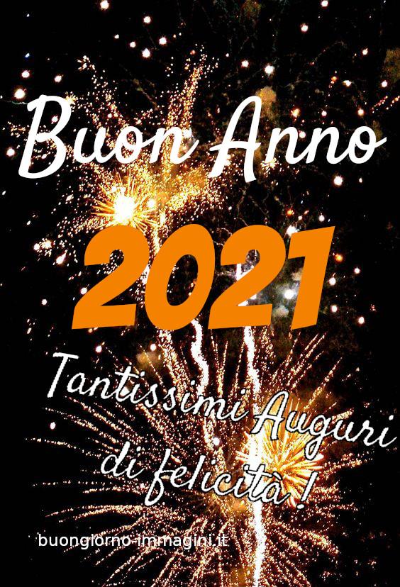 Buon Anno 2021 tantissimi auguri di felicità