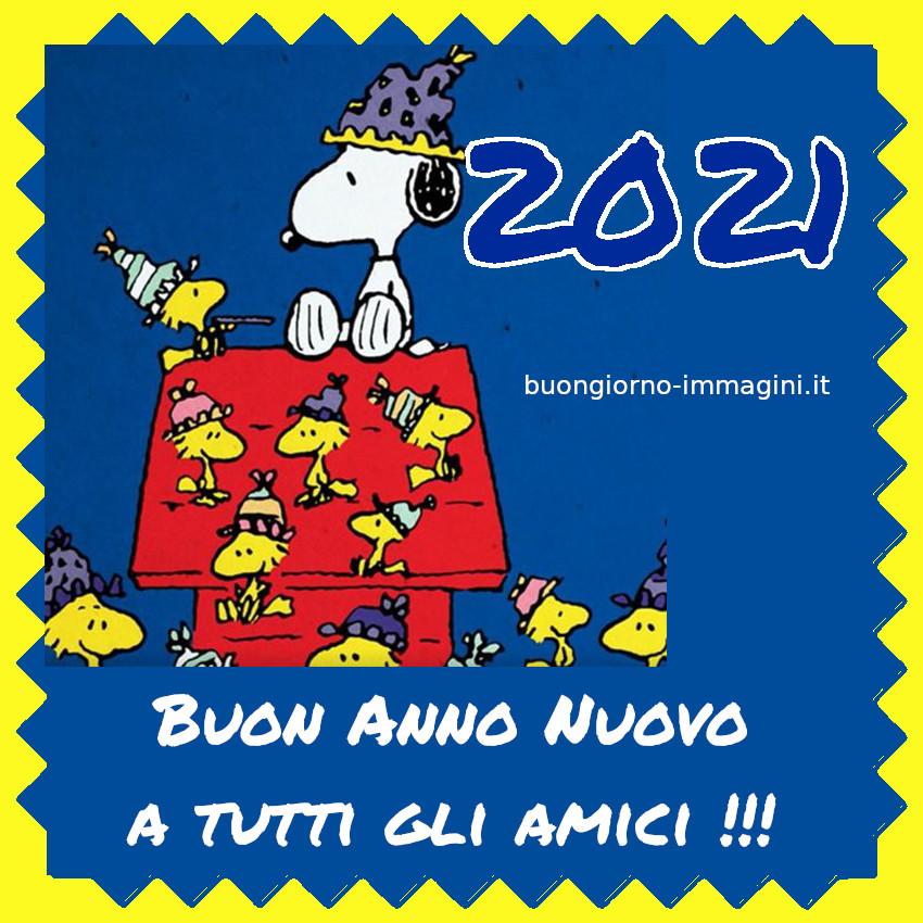 Buon Anno Nuovo 2021 da Snoopy e Woodstock