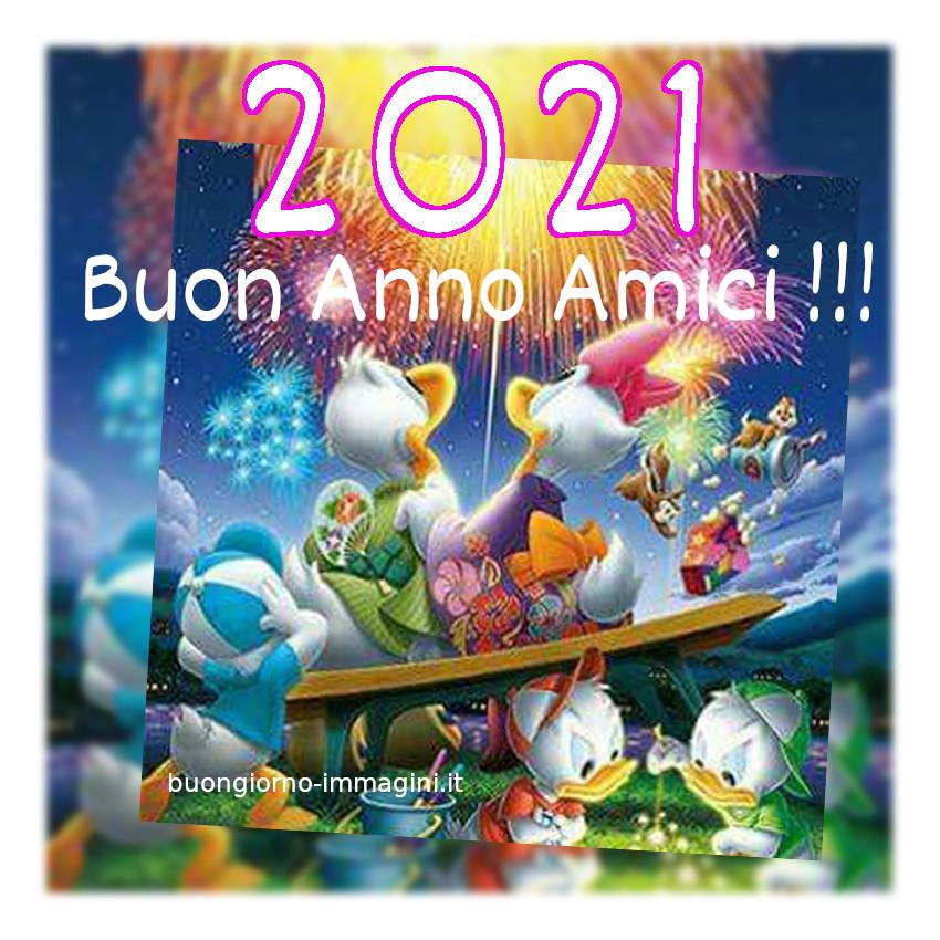 Buon Anno amici 2021 immagini Walt Disney
